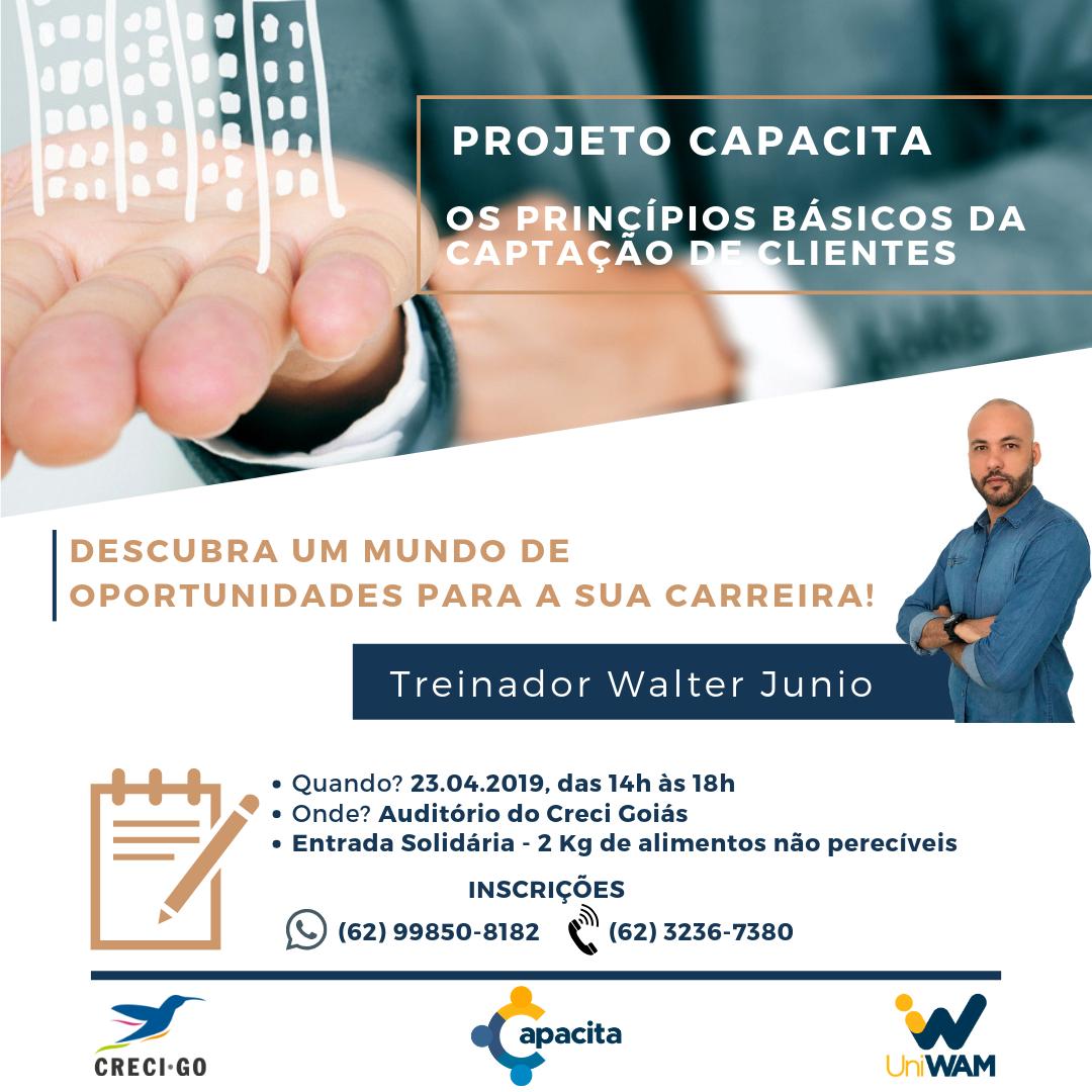 Projeto Capacita: parceria entre Creci e Uniwam   CRECI-GO/ Conselho Regional de Corretores de Imóveis de Goiás