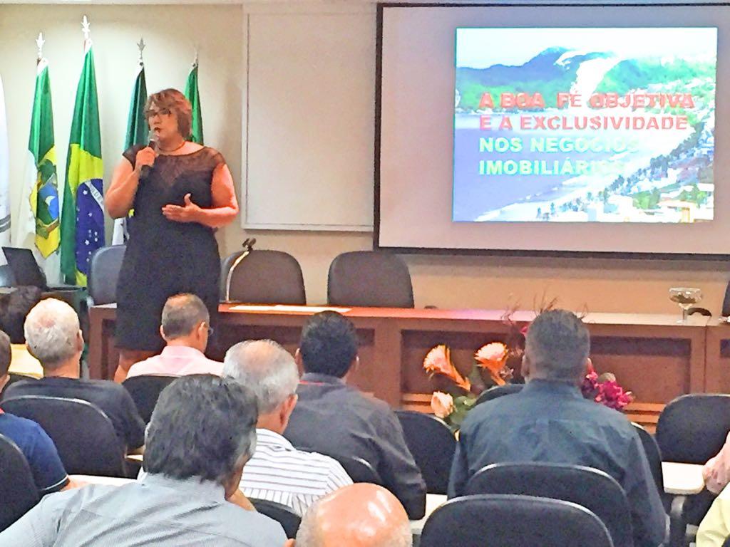 Diretora pedagógica ministra palestra em Natal e Mossoró | Creci-GO