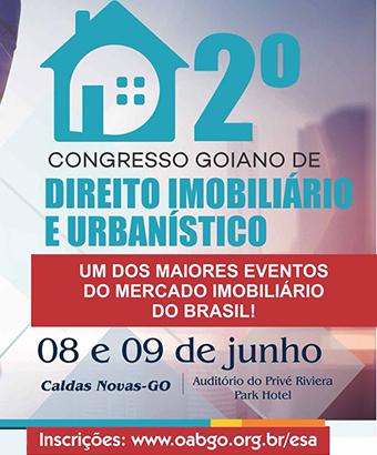 Vem aí o 2° Congresso de Direito Imobiliário e Urbanístico | Creci-GO