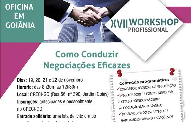 Negociação é tema do Workshop Profissional | Creci-GO
