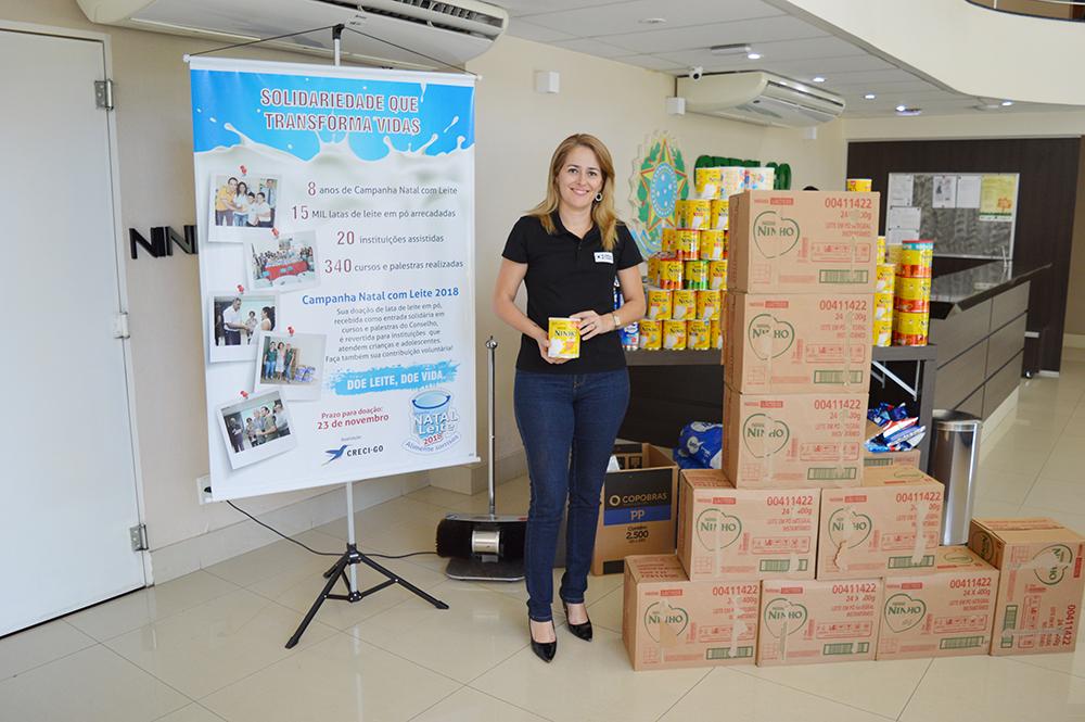 Doações para Campanha Natal com Leite 2018 | CRECI-GO/ Conselho Regional de Corretores de Imóveis de Goiás
