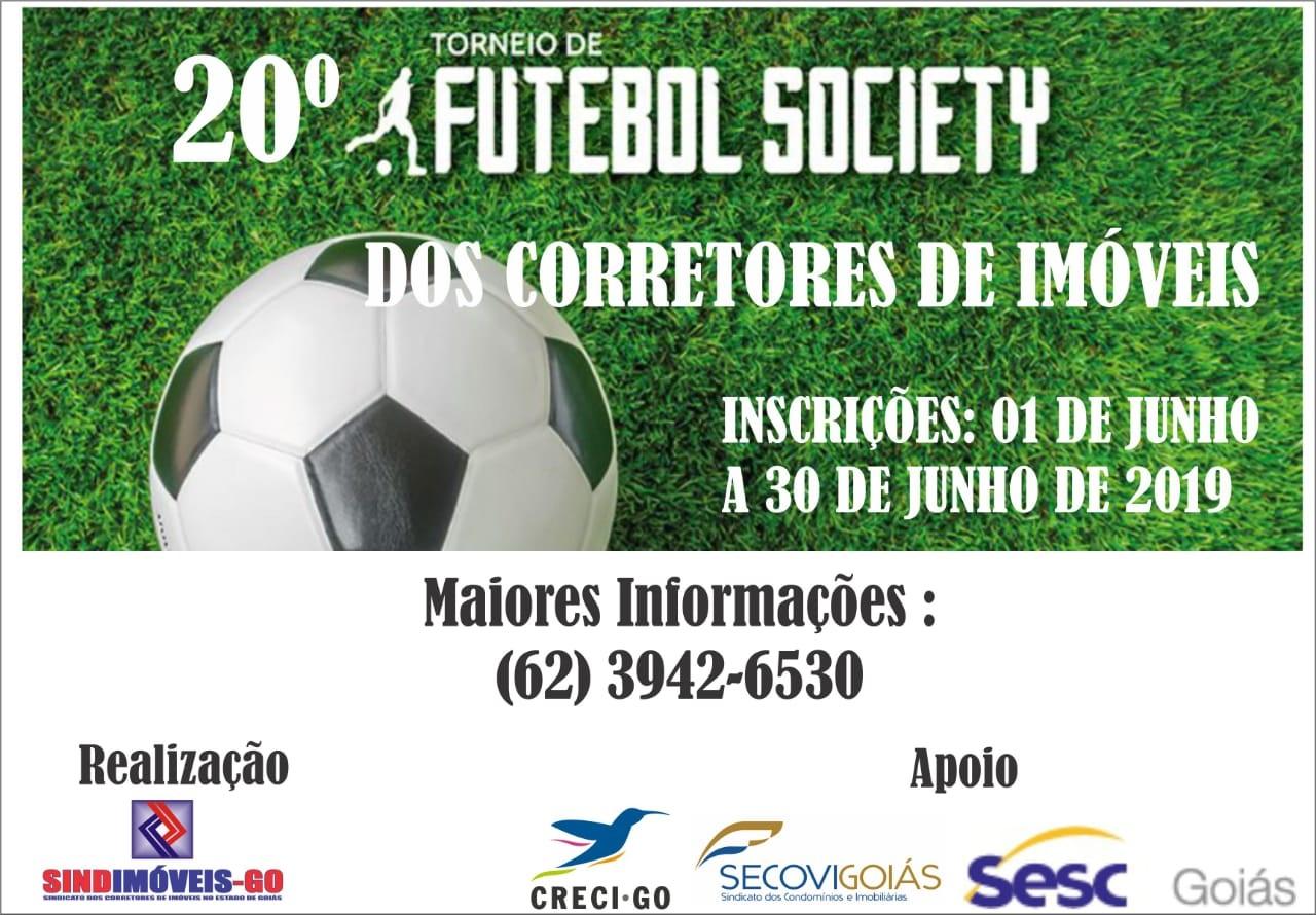 Vem aí o 20° Torneio de Futebol Society | CRECI-GO/ Conselho Regional de Corretores de Imóveis de Goiás