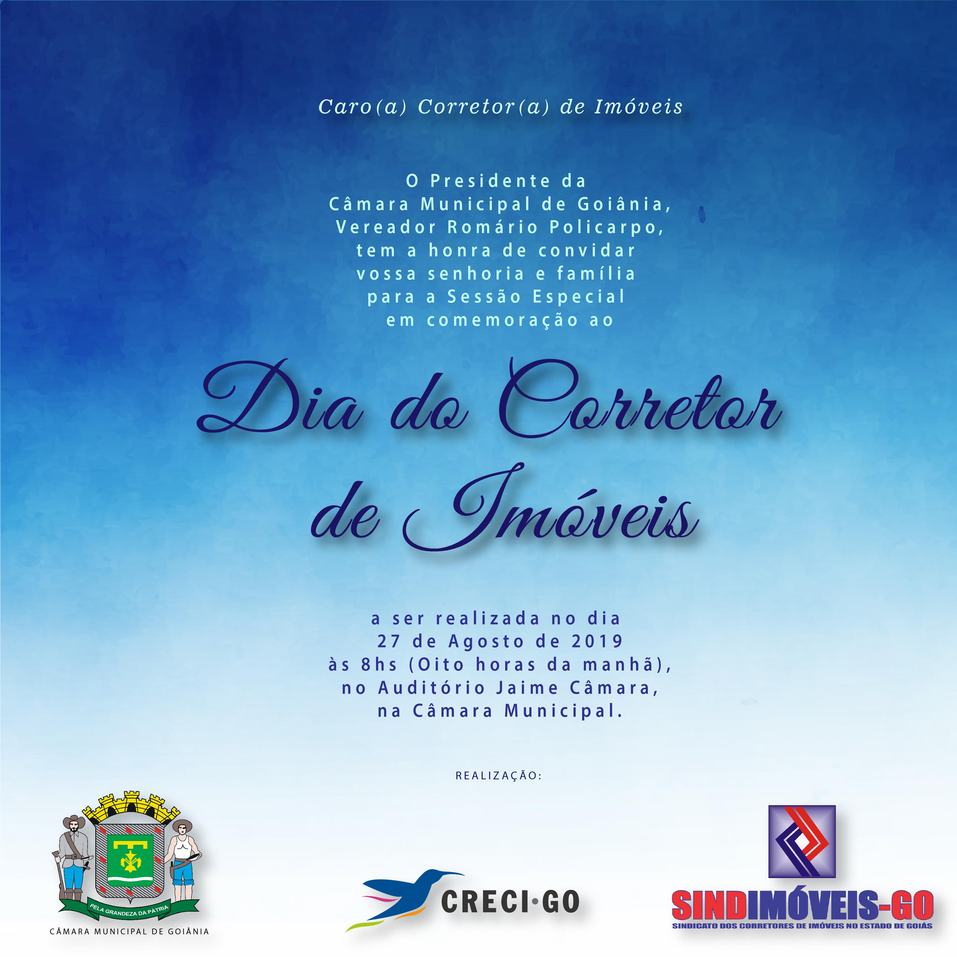 Câmara Municipal de Goiânia promove homenagem à categoria | CRECI-GO/ Conselho Regional de Corretores de Imóveis de Goiás