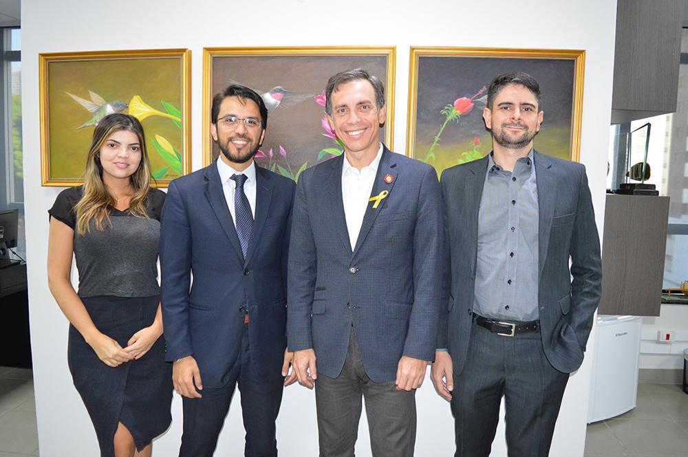 Presidente recebe visita da CEA da OAB-GO | CRECI-GO/ Conselho Regional de Corretores de Imóveis de Goiás