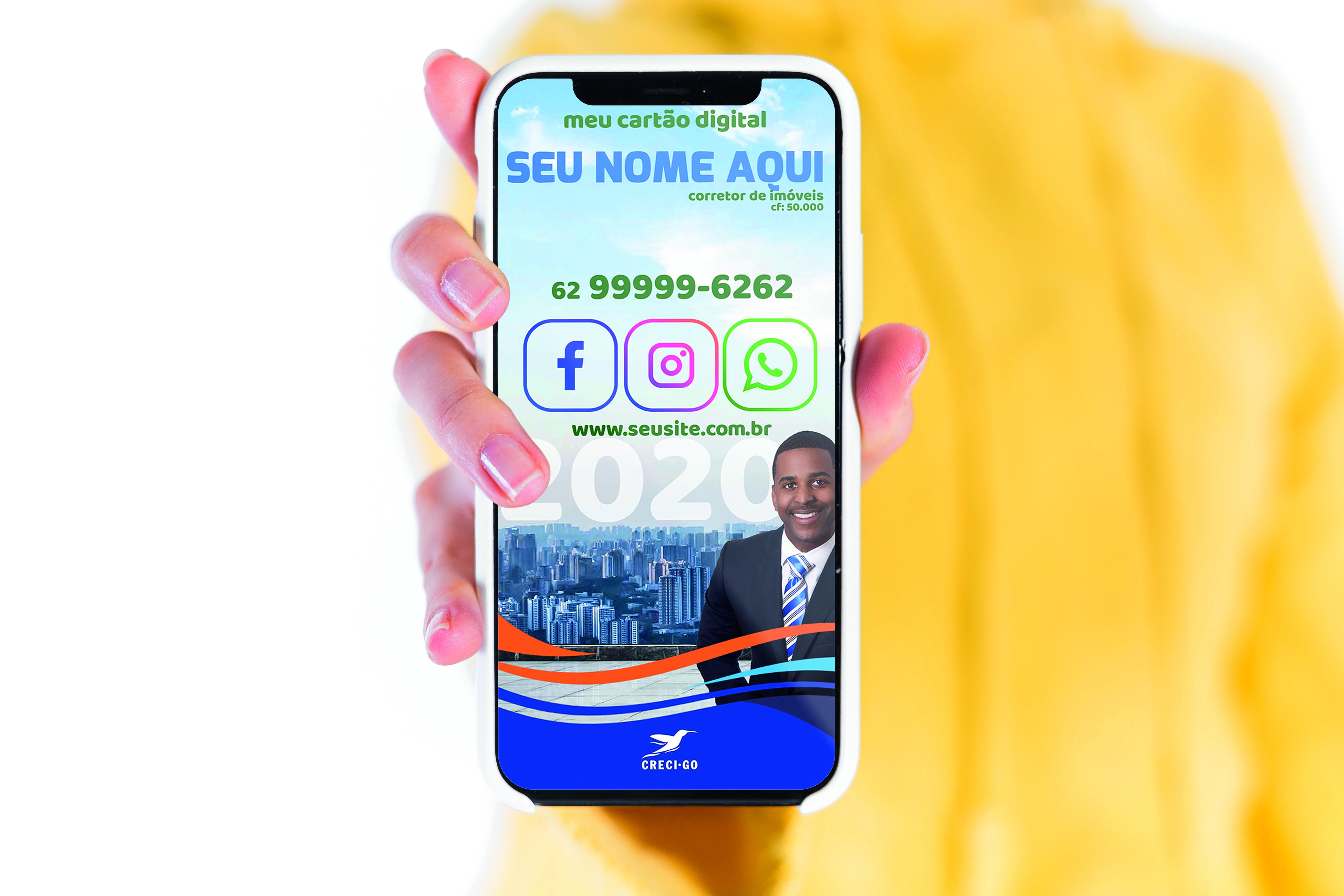 CRECI-GO disponibiliza cartão de visitas digital para categoria | CRECI-GO/ Conselho Regional de Corretores de Imóveis de Goiás