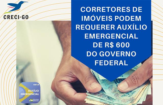 Corretores de imóveis podem requerer auxílio emergencial do Governo Federal | CRECI-GO/ Conselho Regional de Corretores de Imóveis de Goiás