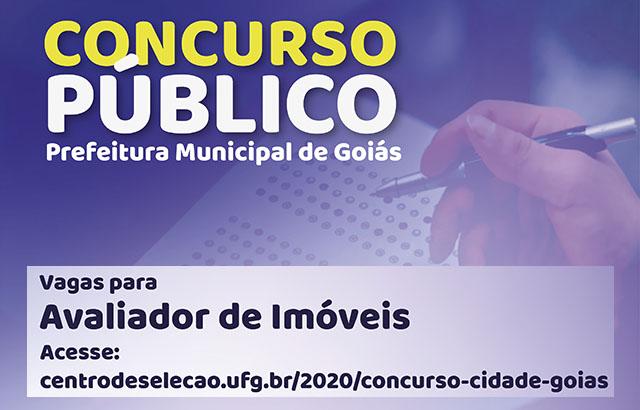 Concurso da Prefeitura Municipal da Cidade de Goiás abre vagas para Avaliadores de Imóveis | CRECI-GO/ Conselho Regional de Corretores de Imóveis de Goiás