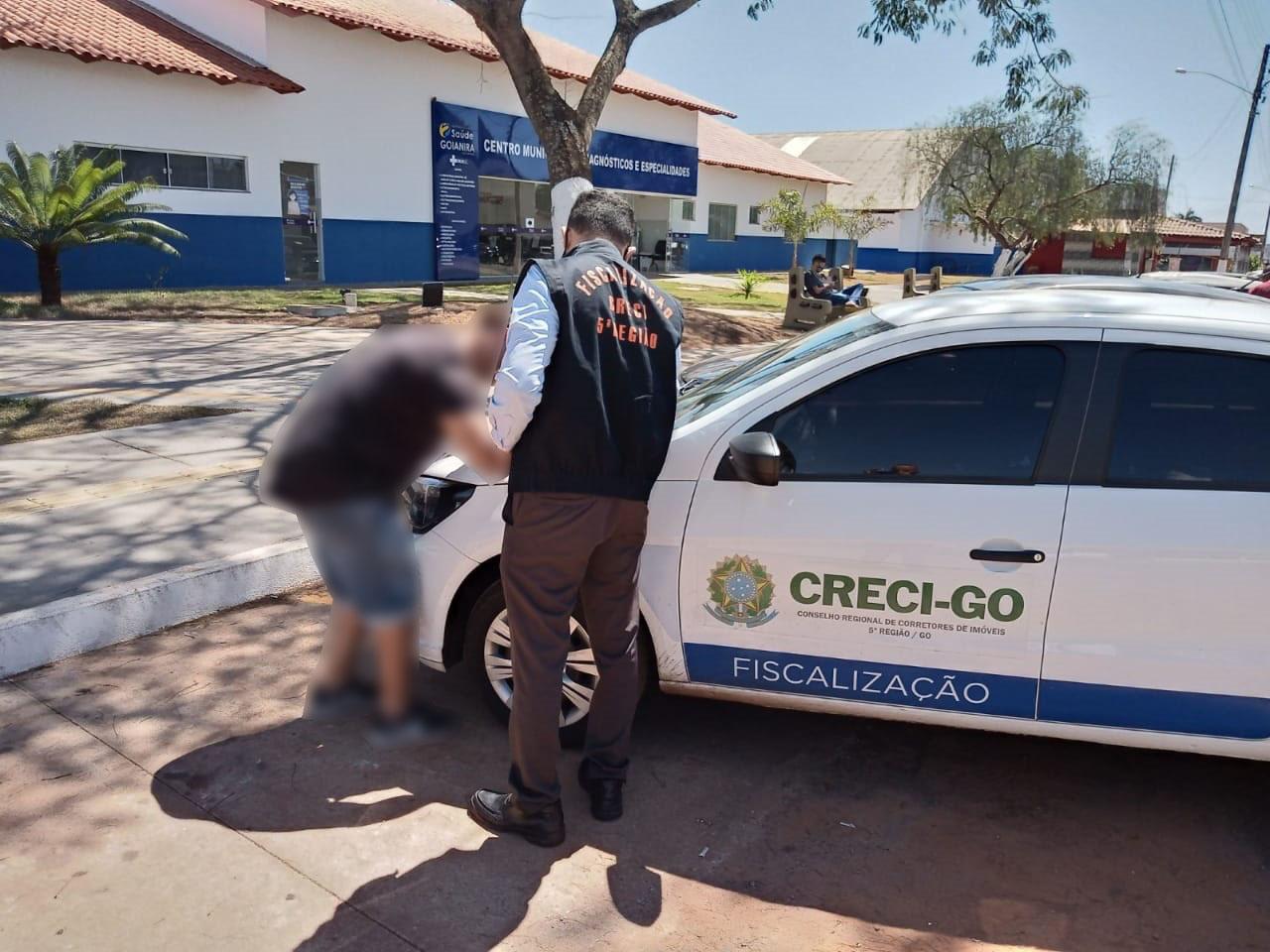 Suspeito de estelionato é autuado em Goianira | CRECI-GO/ Conselho Regional de Corretores de Imóveis de Goiás