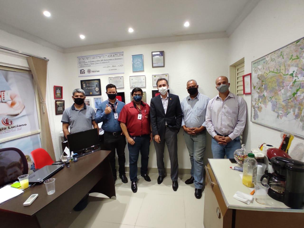 Presidente visita escritório imobiliário Sérgio Luciano | CRECI-GO/ Conselho Regional de Corretores de Imóveis de Goiás
