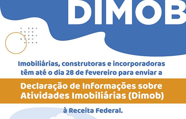 Em fevereiro encerra o prazo para envio da Dimob   CRECI-GO/ Conselho Regional de Corretores de Imóveis de Goiás