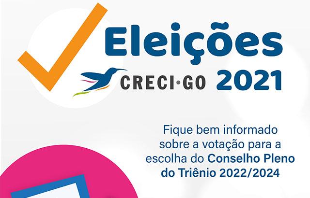 Eleição para triênio 2022-2024 do CRECI-GO   CRECI-GO/ Conselho Regional de Corretores de Imóveis de Goiás
